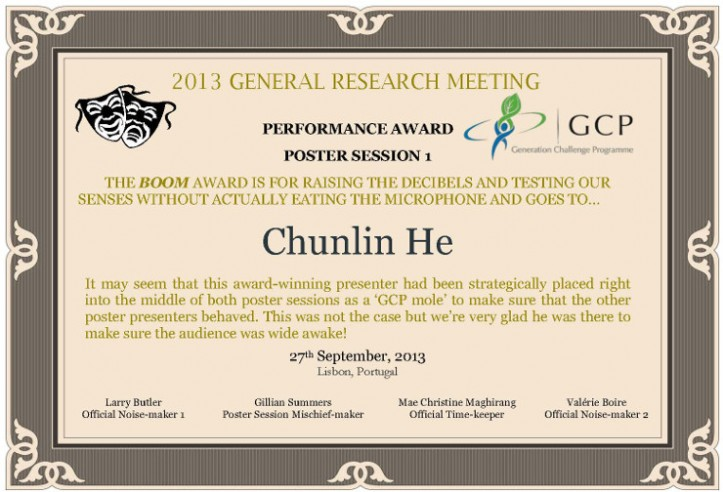 Poster Session 1: The Boom Award