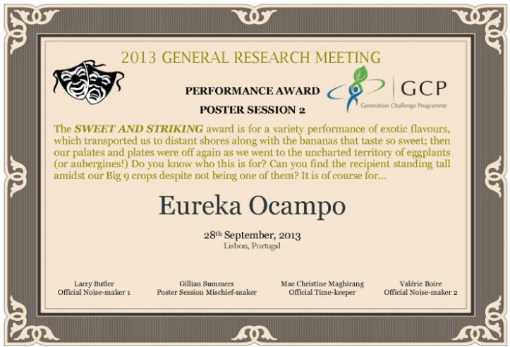 Poster Session 2: The Sweet and Striking Award
